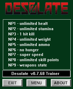 Desolate Trainer +9 v0.7.68 {dR.oLLe}