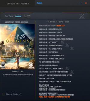 Assassin's Creed: Origins Trainer +20 v1.41 {LinGon}