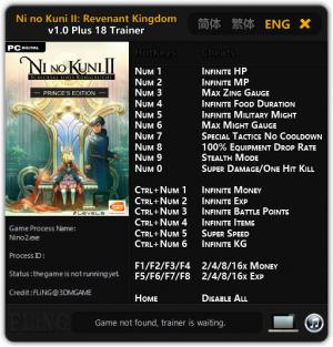 Ni No Kuni 2: Revenant Kingdom Trainer +18 v1.0 {FLiNG}