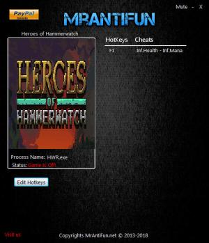 Heroes of Hammerwatch Trainer +2 vb72 {MrAntiFun}