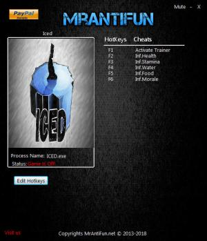 Iced Trainer for PC game version v04.16.2018