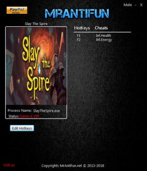 Slay the Spire Trainer +2 v04.16.2018 {MrAntiFun}