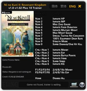 Ni No Kuni 2: Revenant Kingdom Trainer +18 v1.0 - 1.02 {FLiNG}