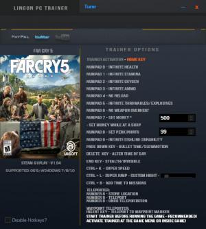 Far Cry 5 Trainer for PC game version v1.04