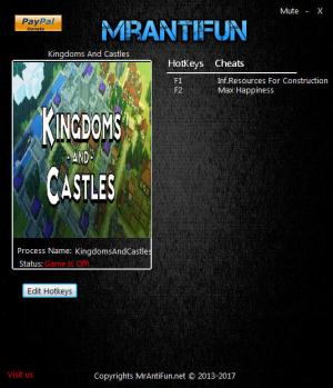 Kingdoms And Castles Trainer +2 v110 {MrAntiFun}