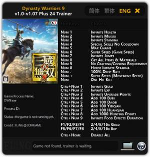 Dynasty Warriors 9 Trainer +24 v1.0 - 1.07 {FLiNG}