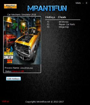 Car Mechanic Simulator 2018 Trainer +3 v1.5.16 {MrAntiFun}