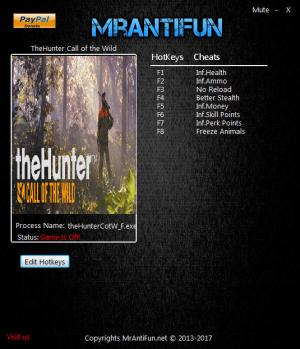 theHunter: Call of the Wild Trainer +8 v1.19 {MrAntiFun}