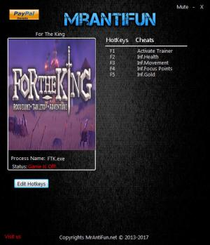 For the King Trainer +4 v1.0.7818 {MrAntiFun}