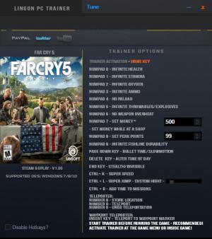Far Cry 5 Trainer +18 v1.05 {LinGon}