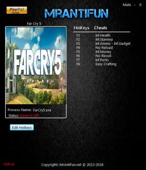 Far Cry 5 Trainer for PC game version v1.5.0