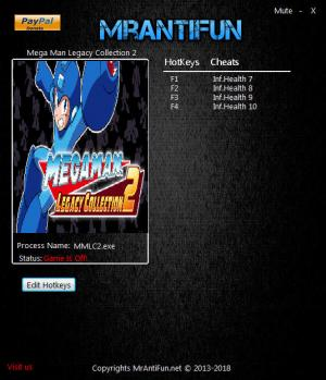 Mega Man Legacy Collection 2 Trainer for PC game version v1.00