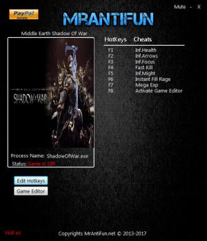 Middle-earth: Shadow of War Trainer +9 v1.15 {MrAntiFun}