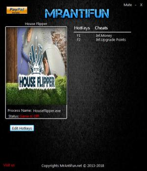House Flipper Trainer for PC game version v1.0