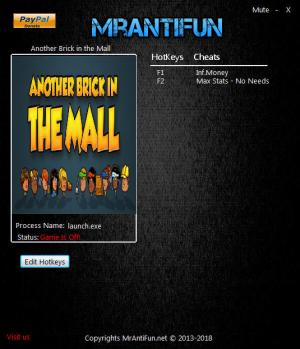 Another Brick in the Mall Trainer for PC game version v0.12.2