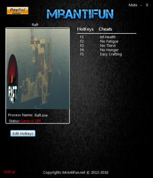 Raft Trainer +5 v1.0 Steam {MrAntiFun}