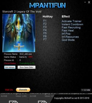 StarCraft 2: Legacy of the Void Trainer +6 v4.3.2.65384 64Bit {MrAntiFun}