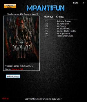 Warhammer 40.000: Dawn of War 3 Trainer +6 v4.0.0.19122 {MrAntiFun}