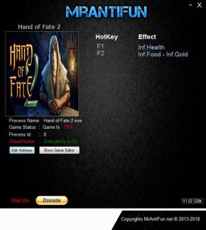 Hand of Fate 2 Trainer +3 v1.5.2  {MrAntiFun}