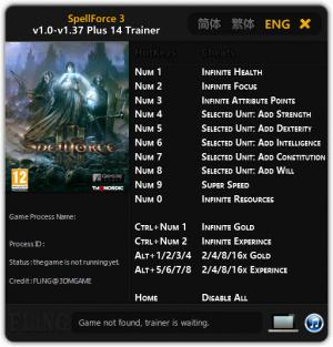 SpellForce 3 Trainer +14 v1.0 - 1.37 {FLiNG}