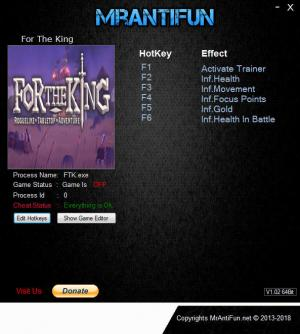 For the King Trainer +5 v1.0.4.8319 {MrAntiFun}