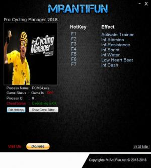 Pro Cycling Manager 2018 Trainer +6 v1.0.1.2 {MrAntiFun}