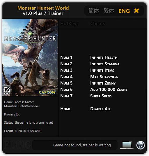 monster hunter trainer