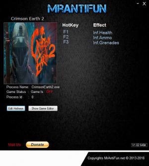 Crimson Earth 2 Trainer +3 v2.0 {MrAntiFun}