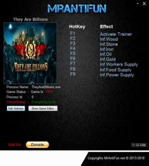 They Are Billions Trainer +8 v0.9.0 64bit {MrAntiFun}