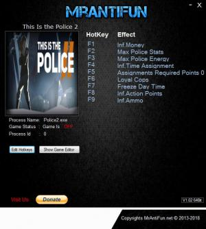 This Is the Police 2 Trainer for PC game version v1.0.7.0