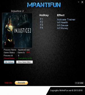 Injustice 2 Trainer +3 v22.08.2018 {MrAntiFun}