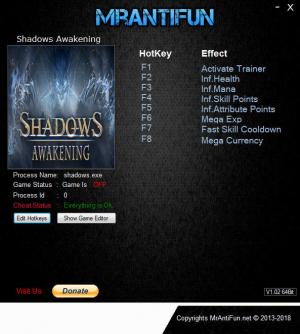 Shadows: Awakening Trainer +7 v1.12 {MrAntiFun}