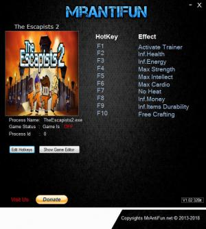 The Escapists 2 Trainer +9 v1.1.7 {MrAntiFun}