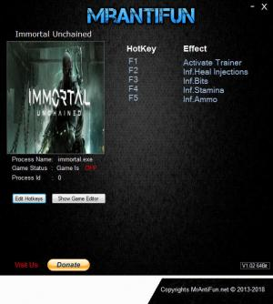 Immortal: Unchained Trainer for PC game version v14.09.2018