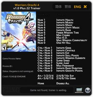 Warriors Orochi 4 Trainer +22 v1.0 {FLiNG}