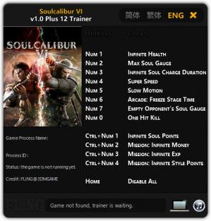 Soulcalibur VI Trainer +12 v1.0 {FLiNG}
