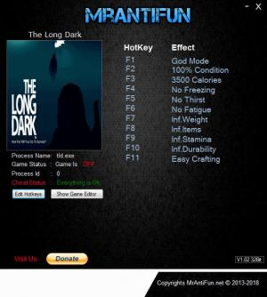 The Long Dark Trainer +12 v1.37 {MrAntiFun}