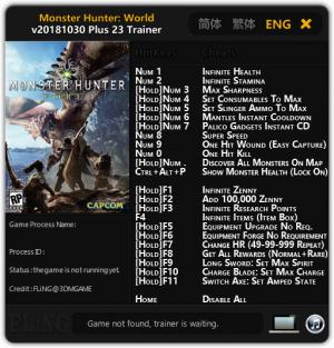 Monster Hunter: World Trainer +26 v2018.10.30 Steam {FLiNG}