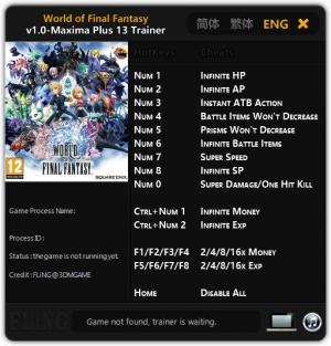 World of Final Fantasy Trainer +13 v1.0 Maxima {FLiNG}