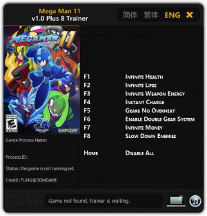 Mega Man 11 Trainer +8 v1.0 {FLiNG}