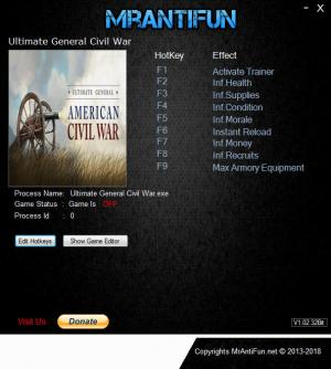 Ultimate General: Civil War Trainer +8 v1.11 {MrAntiFun}