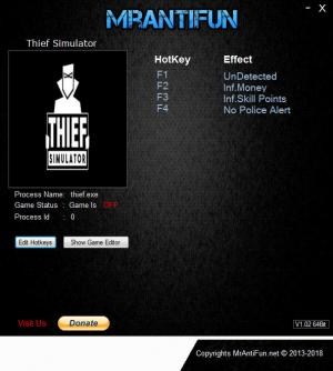 Thief Simulator Trainer +4 v14.11.2018 {MrAntiFun}