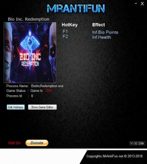 Bio Inc. Redemption Trainer +2 v1.10 {MrAntiFun}