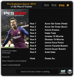Pro Evolution Soccer 2019 Trainer for PC game version v1.02