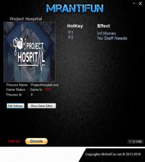 Project Hospital Trainer +2 v1.0.14523 {MrAntiFun}