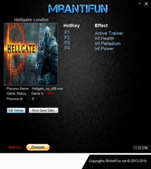 Hellgate: London 2018 Trainer for PC game version v2.1.0.4