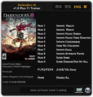 Darksiders 3 Trainer +11 v1.0 {FLiNG}