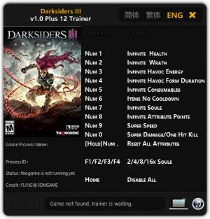 Darksiders 3 Trainer +12 v1.0 {FLiNG}