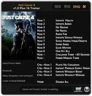 Just Cause 4 Trainer for PC game version v1.0