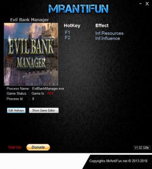 Evil Bank Manager Trainer for PC game version v20.12.2018